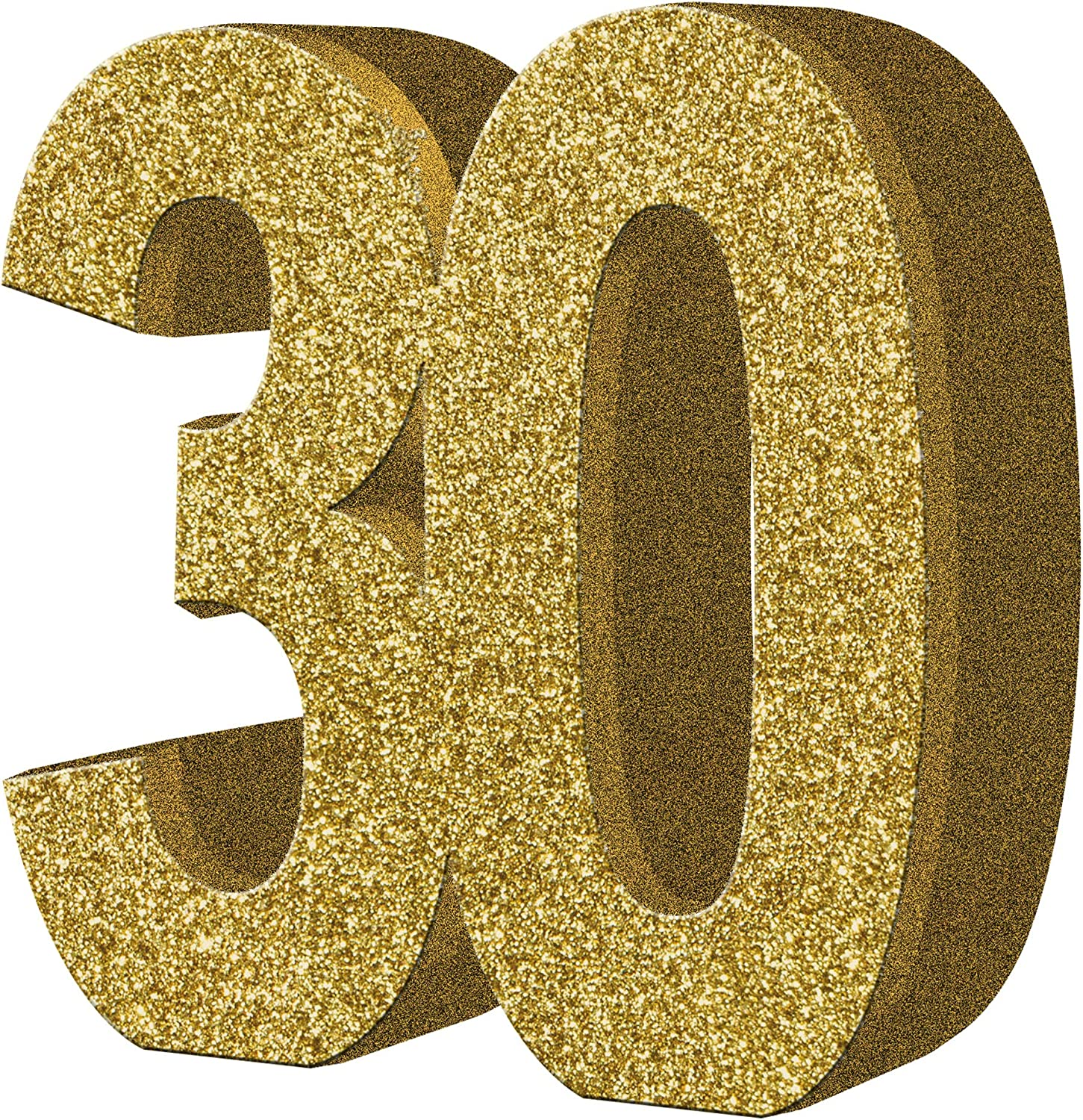 2 x Gold Glitter Number Table Decoration 30