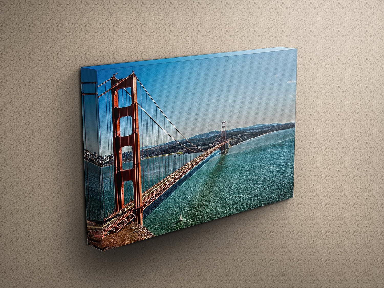 Amazon Com Golden Gate Bridge Panorama San Francisco Bay Sailboat Nautical Art San Francisco Landscape Photography Large Wall Art Canvas Art Handmade