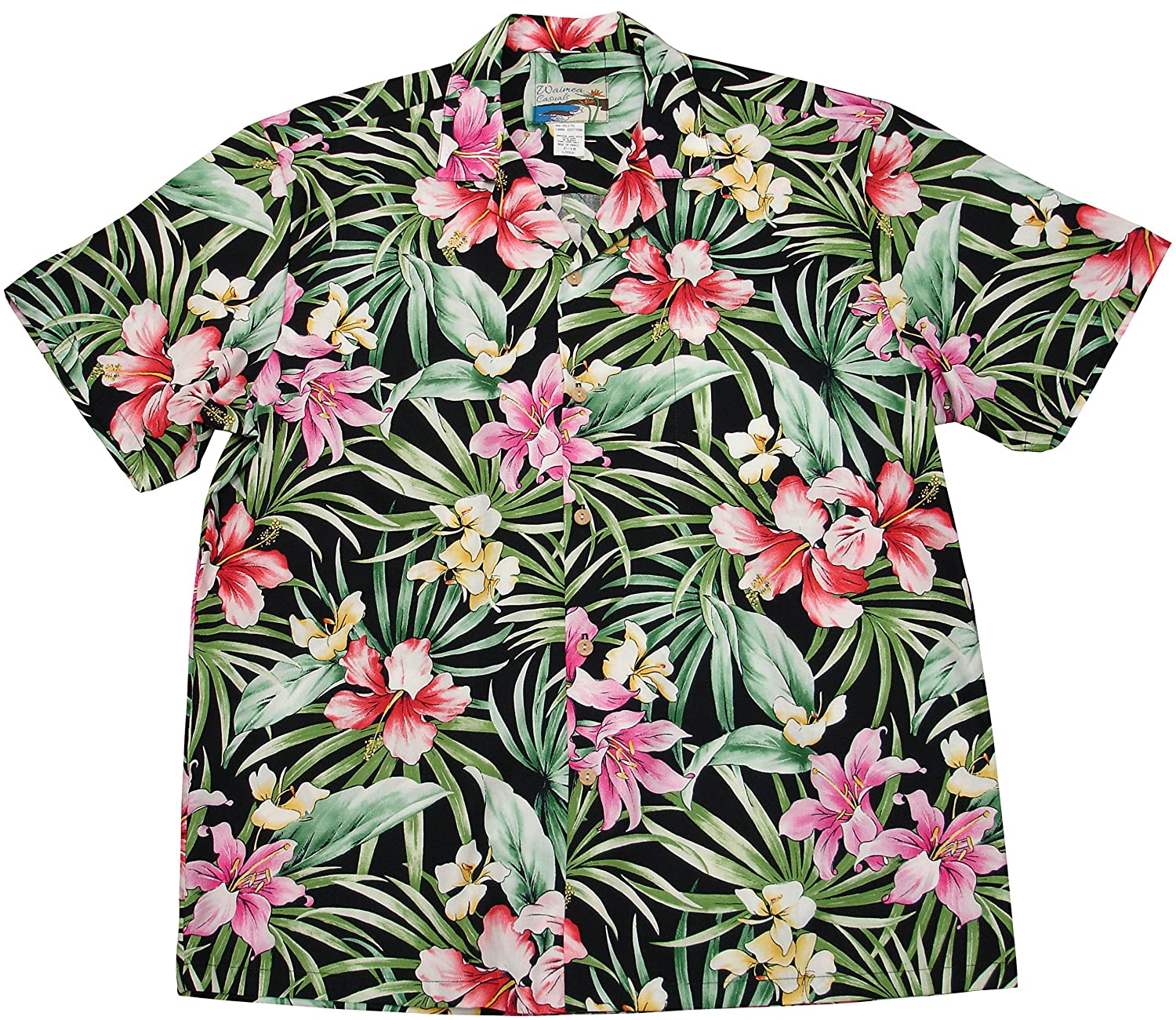 a6692e0a Paradise Found Waimea Casuals Mens Garden Lily Shirt at Amazon Men's  Clothing store: