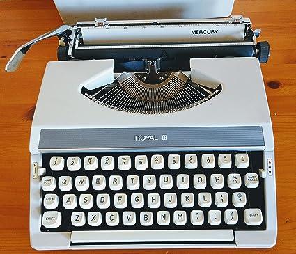 Vintage 1960's Royal Mercury Manual Typewriter Made in Japan