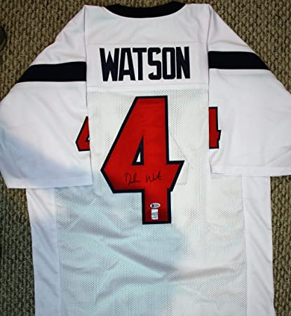 a406fa59626 Autographed Deshaun Watson Houston Texans Custom Jersey with Beckett ...