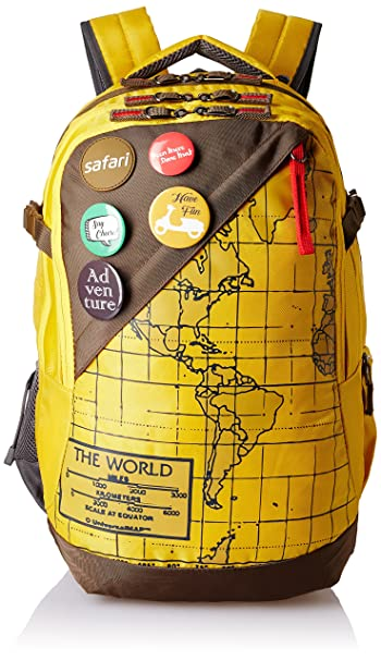 Safari 42 ltrs yellow laptop backpack atlas yellow amazon safari 42 ltrs yellow laptop backpack atlas yellow gumiabroncs Gallery