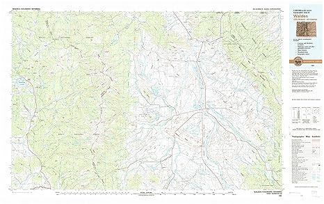 Amazon Com Yellowmaps Walden Co Topo Map 1 100000 Scale 30 X 60