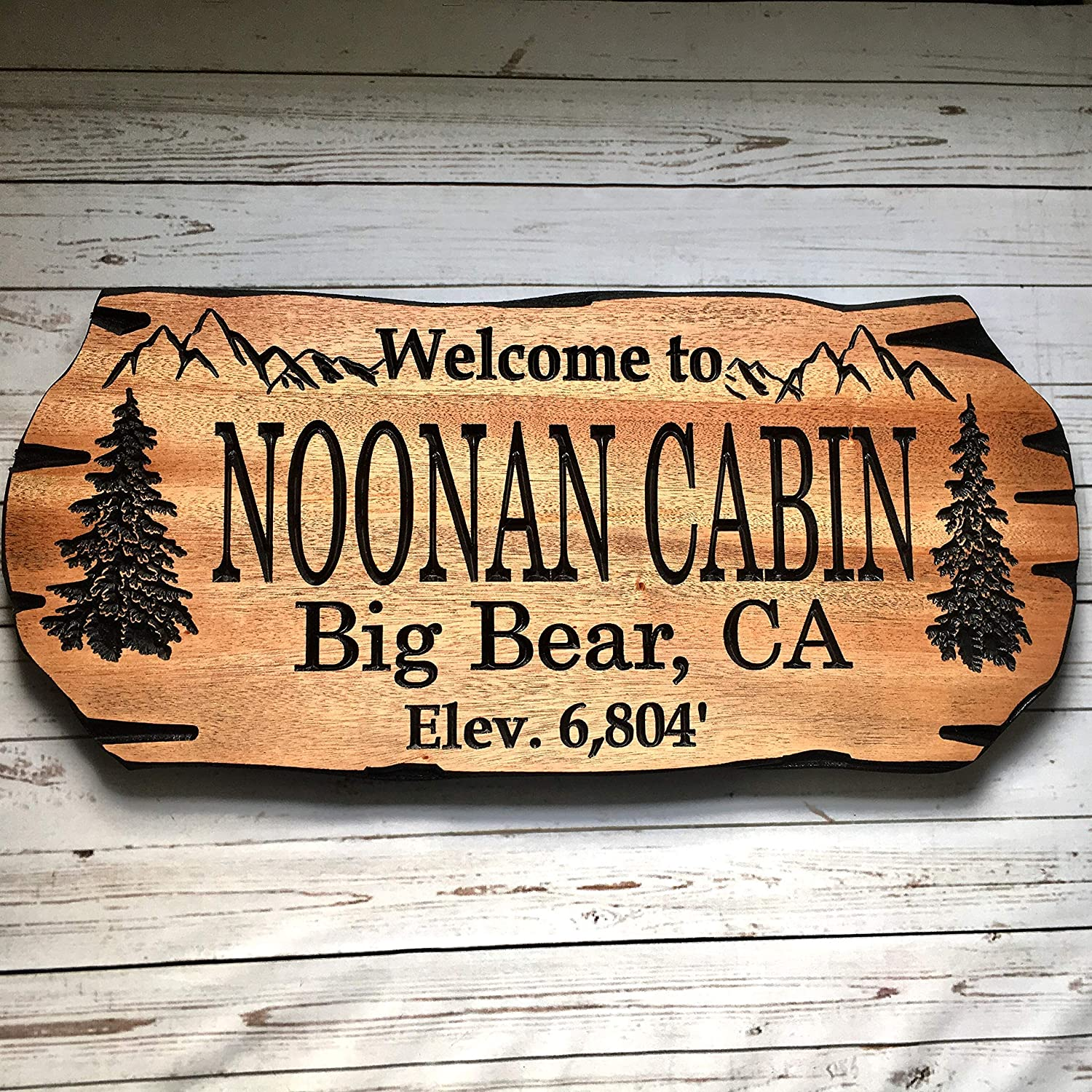 Personalized Rustic wooden sign