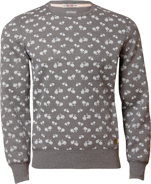 Threadbare Mens Jumper Sweatshirt Crew Neck Bicycle Design FMS 035 Top