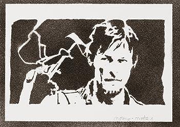 Daryl Dixon The Walking Dead Poster Handmade Graffiti Street Art - Artwork