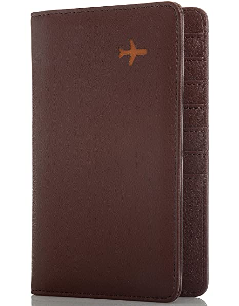 d9737e9e6ead Travel Design all in one Travel Wallet - 2 Passport Holder Organizer - Gift  box (Brown)