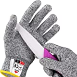 NoCry Cut Resistant Gloves for Kids, XXS (4-7 Years) - High Performance Level 5 Protection, Food Grade. Free Ebook…