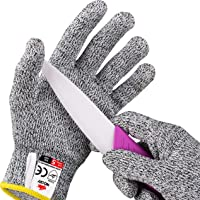 NoCry Cut Resistant Gloves for Kids (8-12 Years Old) - High Performance Level 5 Protection, Food Grade. Free Ebook Included!
