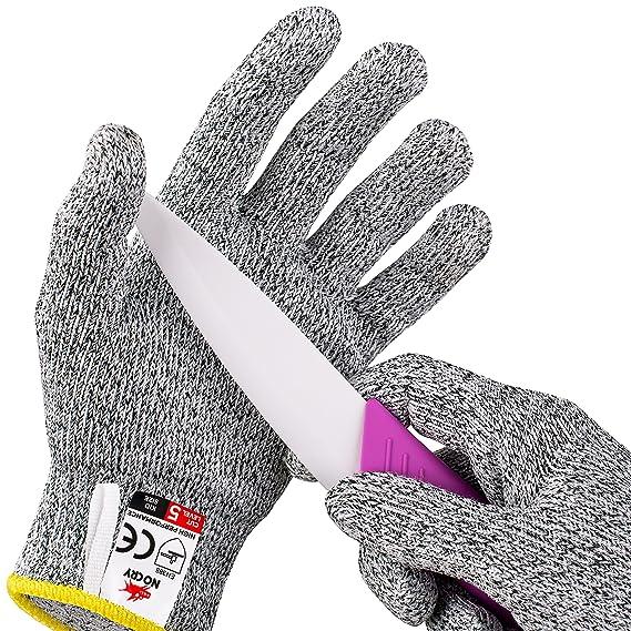 NoCry schnittsichere Handschuhe für Kinder – Leistungsfähiger Level 5 Schutz, lebensmittelecht. Größe : XS (8-12 Jährige), 1