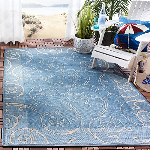 Safavieh Courtyard Collection CY2665 Scroll Indoor/ Outdoor Non-Shedding Stain Resistant Patio Backyard Area Rug