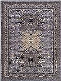 Unique Loom Taftan Collection Geometric Tribal Gray