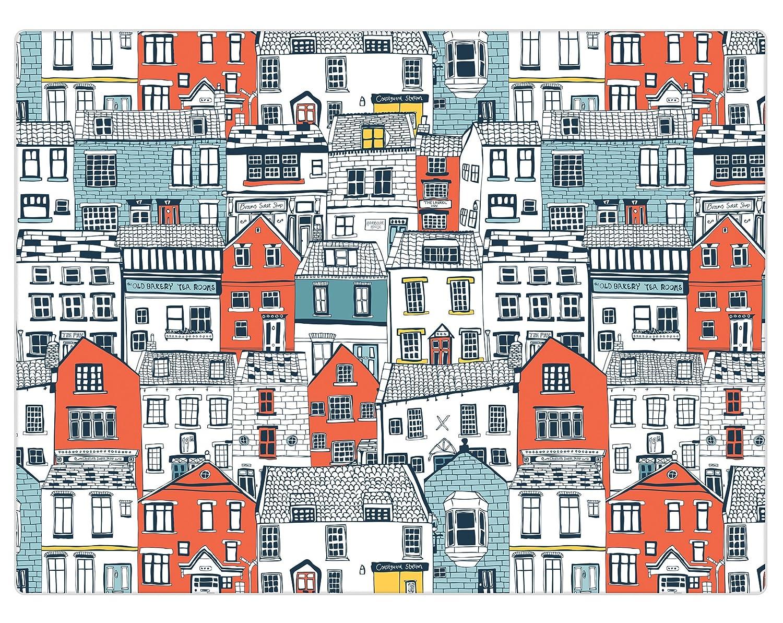 iSTYLE I Style Coastal Houses Worktop Saver, Glass, Multi-Colour ...