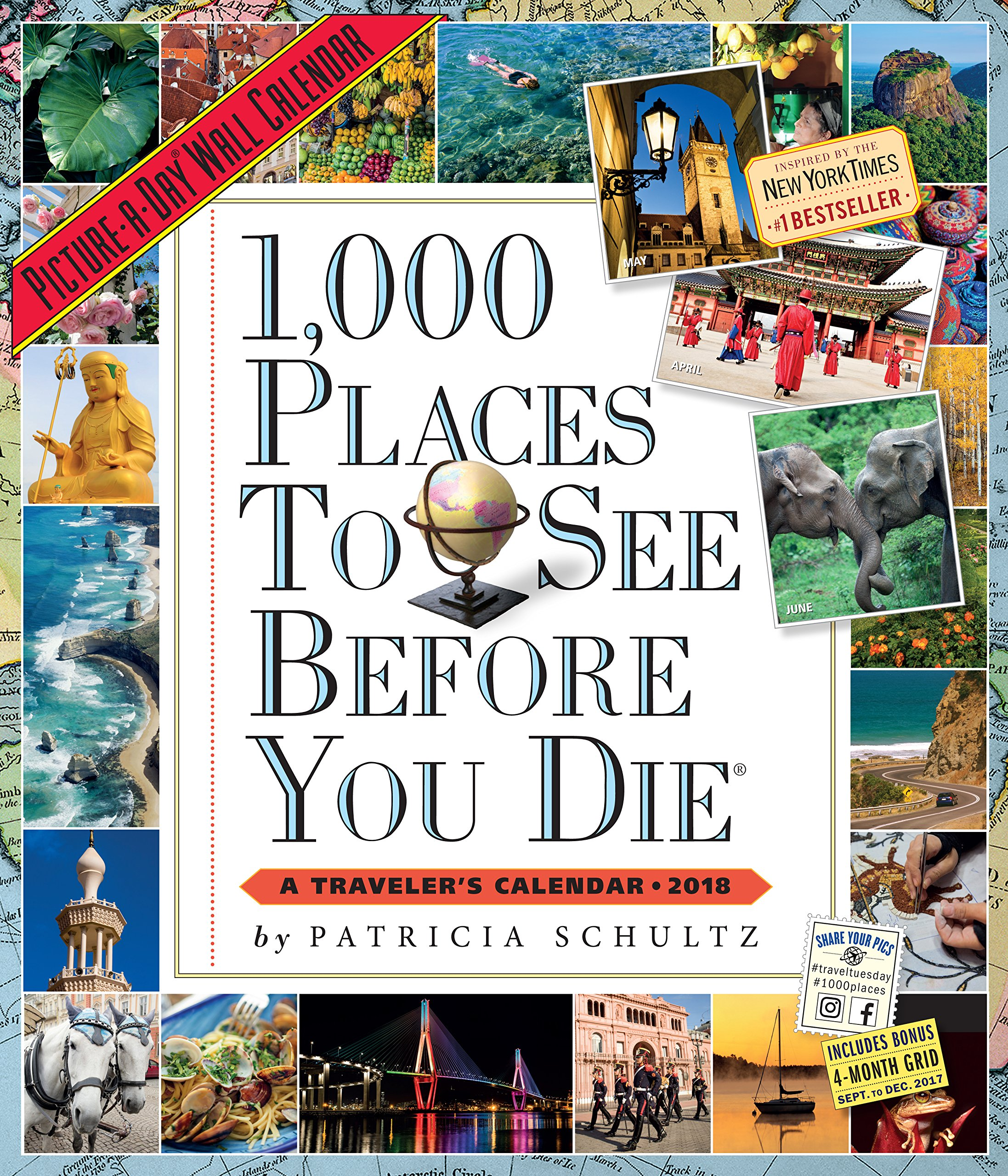 1,000 Places to See Before You Die Picture-a-Day 2018 Calendar