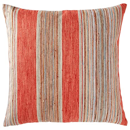Rivet Bohemian Stripe Decorative Pillow, 17 x 17 , Terracotta