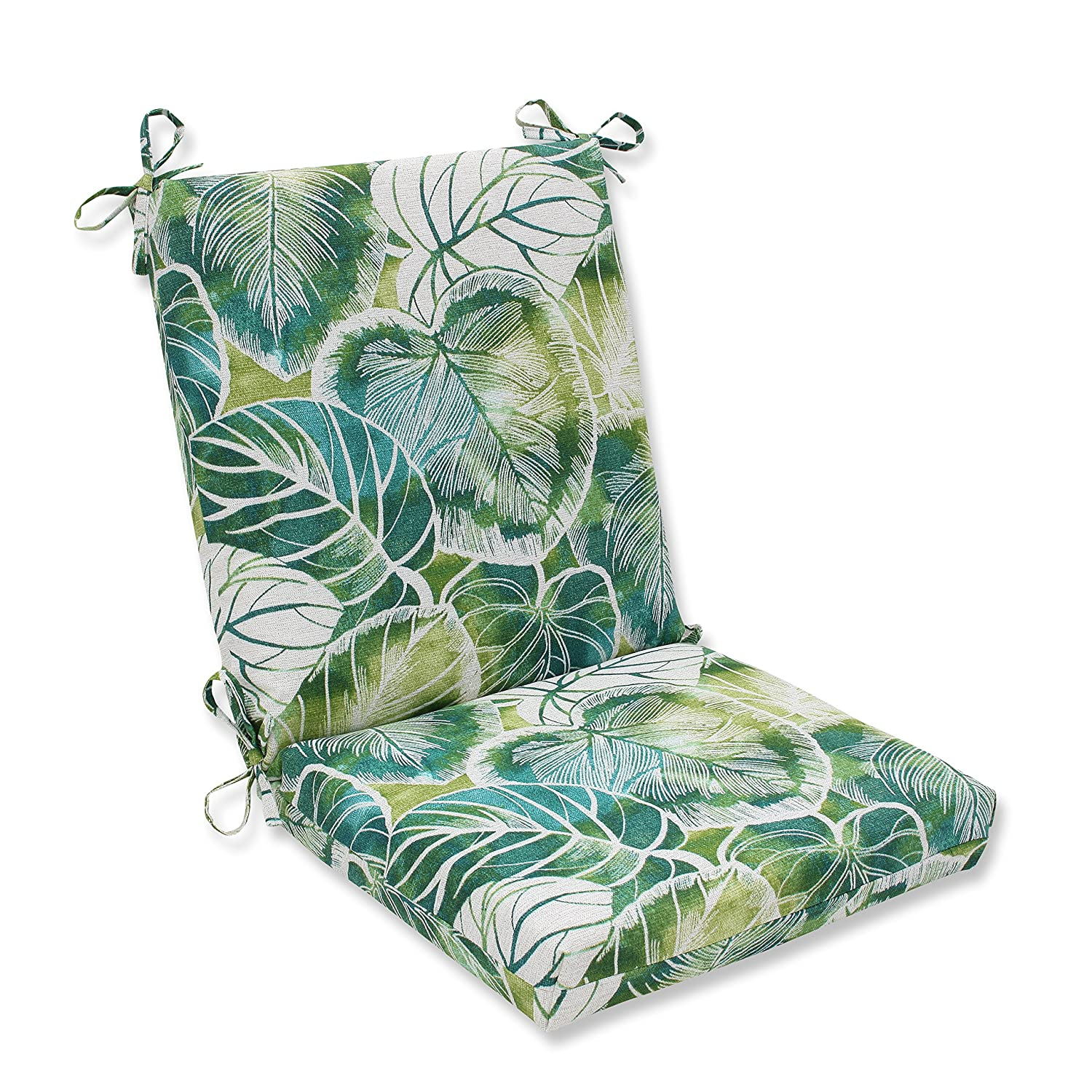 Pillow Perfect Outdoor Indoor Key Cove Lagoon Squared Corners Chair Cushion