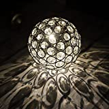 Warm White Solar Powered Crystal Ball Light - Waterproof and comes with Built-in Night Sensor – Decoration Ornaments Lantern Alternative – Ideal Lamp for Hanging on Trees, Outdoor, Garden, Fence, Patio, Yard, Walkway, Driveway, Outside Wall, Garage, Shed, Path by SPV Lights: The Solar Lights & Lighting Specialists (Free 2 Year Warranty Included)