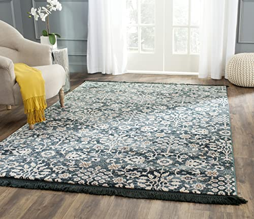Safavieh Serenity Collection SER209G Turquoise and Cream Area Rug 8 x 10