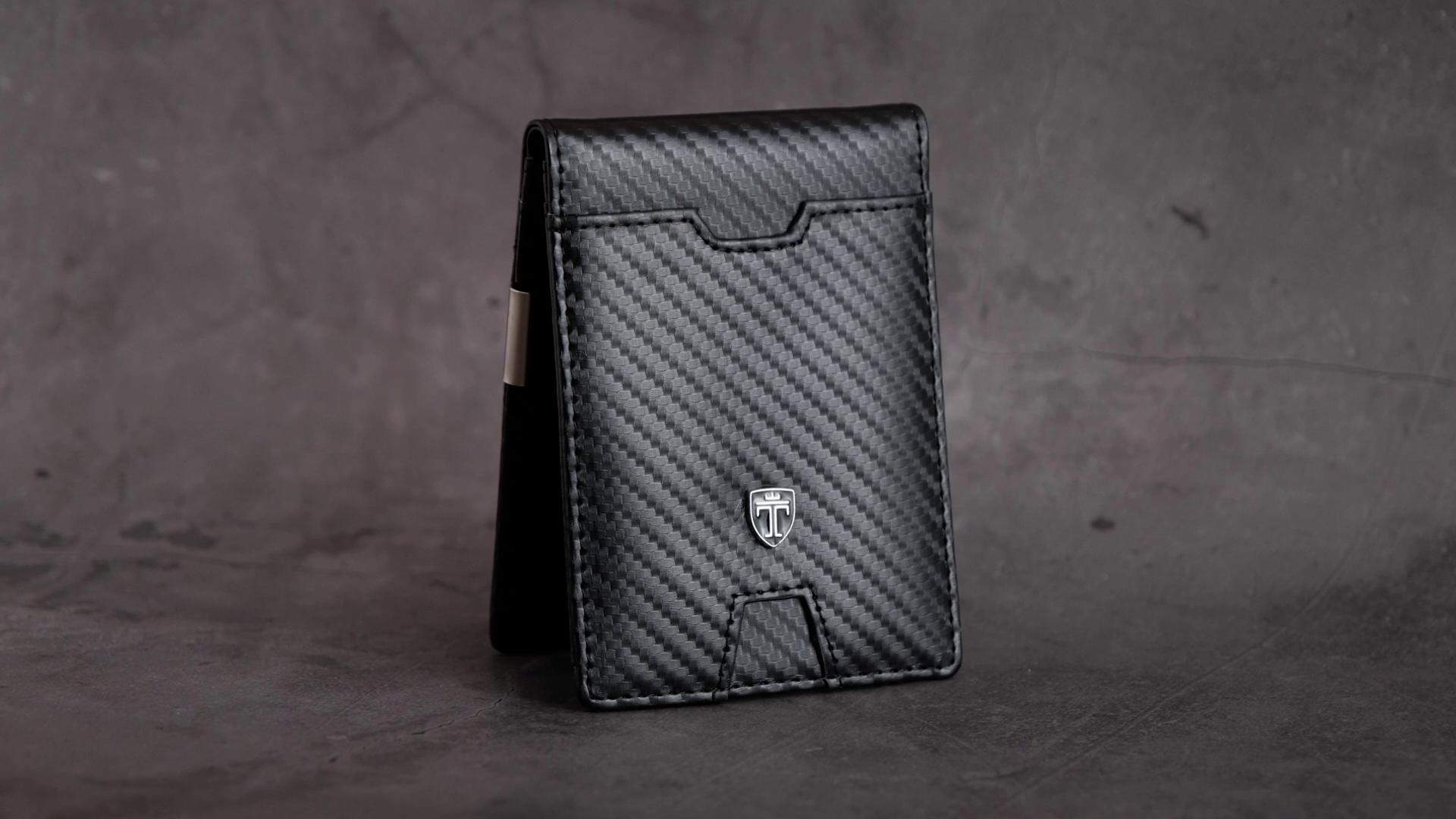 TRAVANDO Slim Wallet with Money Clip AUSTIN RFID Blocking Card Mini Bifold Men 7