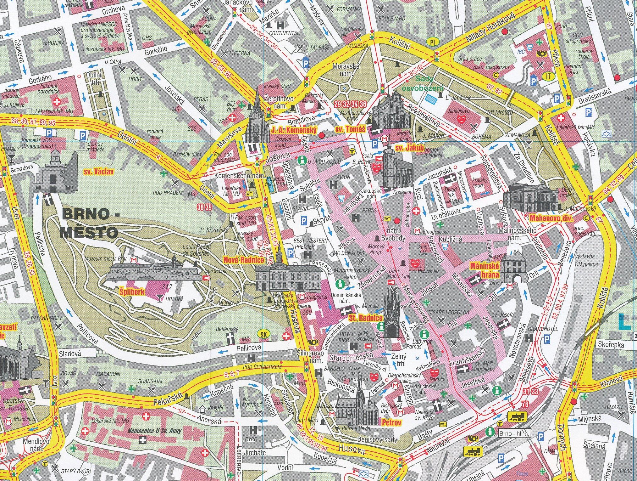 Brno Czech Republic 116 000 Street Map SHOCART Shocart