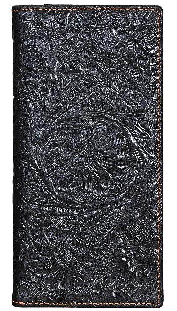 Amazon.com: Monedero de piel auténtica para mujer con ...