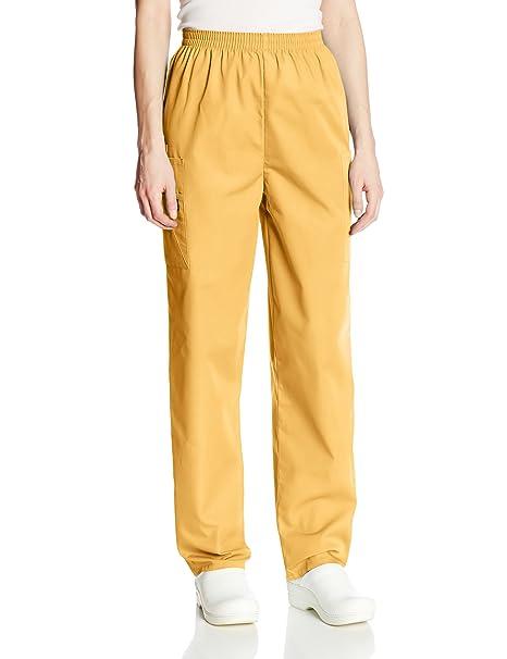 df61f31e7af Cherokee Women's Workwear Elastic Waist Cargo Scrubs Pant, Dandelion,  XXXX-Large at Amazon Women's Clothing store: Medical Scrubs Pants