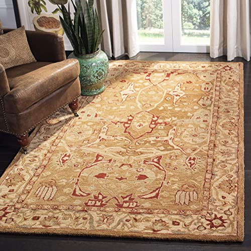 Safavieh Anatolia Collection AN515A Handmade Traditional Oriental Straw and Ivory Wool Area Rug 9' x 12'