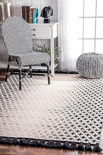 nuLOOM Renna Reversible Tassel Wool Rug, 7 6 x 9 6 , Ivory