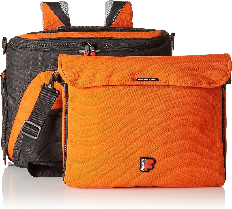 """Fusion F1 Maxi 15/"""" Laptop Backpack or Shoulder Bag Orange"""