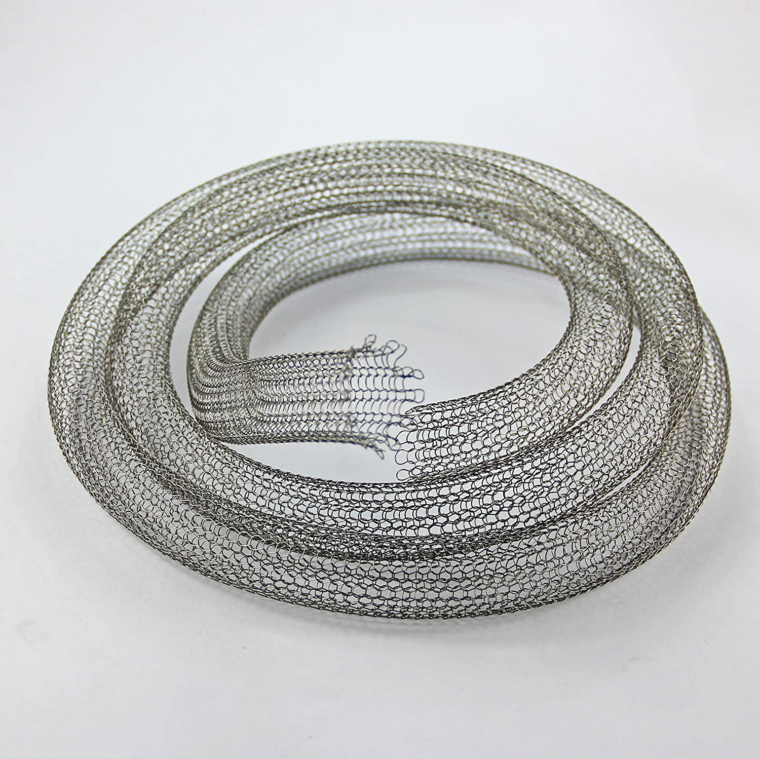 Stainless Steel Knitted Wire Mesh Tubing - Hop Filter Mesh - 22mm Diameter - 1 Metre - FREE SHIPPING The Mesh Company