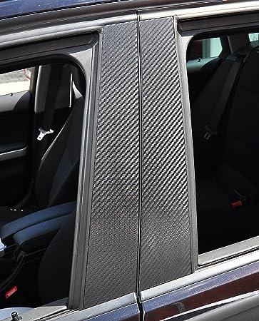 6x Carbon schwarz T/ürzierleisten Verkleidung B S/äule T/ürs/äule passend f/ür Ihr Fahrzeug sch/ützen Sie effektiv Ihren kostenbaren Auto Lack