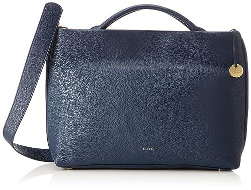Damen Tasche Mikkeline - Satchel, Womens Blau (Ink), 9.5x26x33.5 cm (B x H T) Skagen