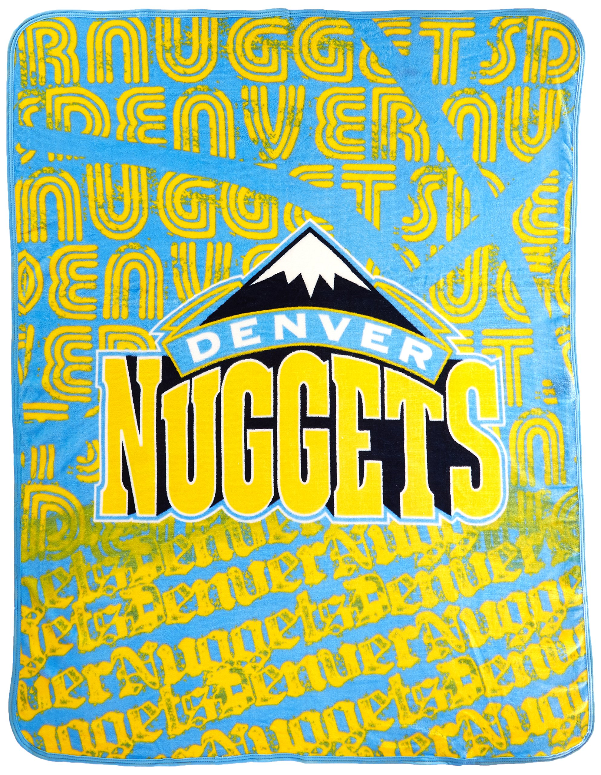The Northwest Company Officially Licensed NBA Denver Nuggets Redux Micro Raschel Throw Blanket, 46'' x 60''