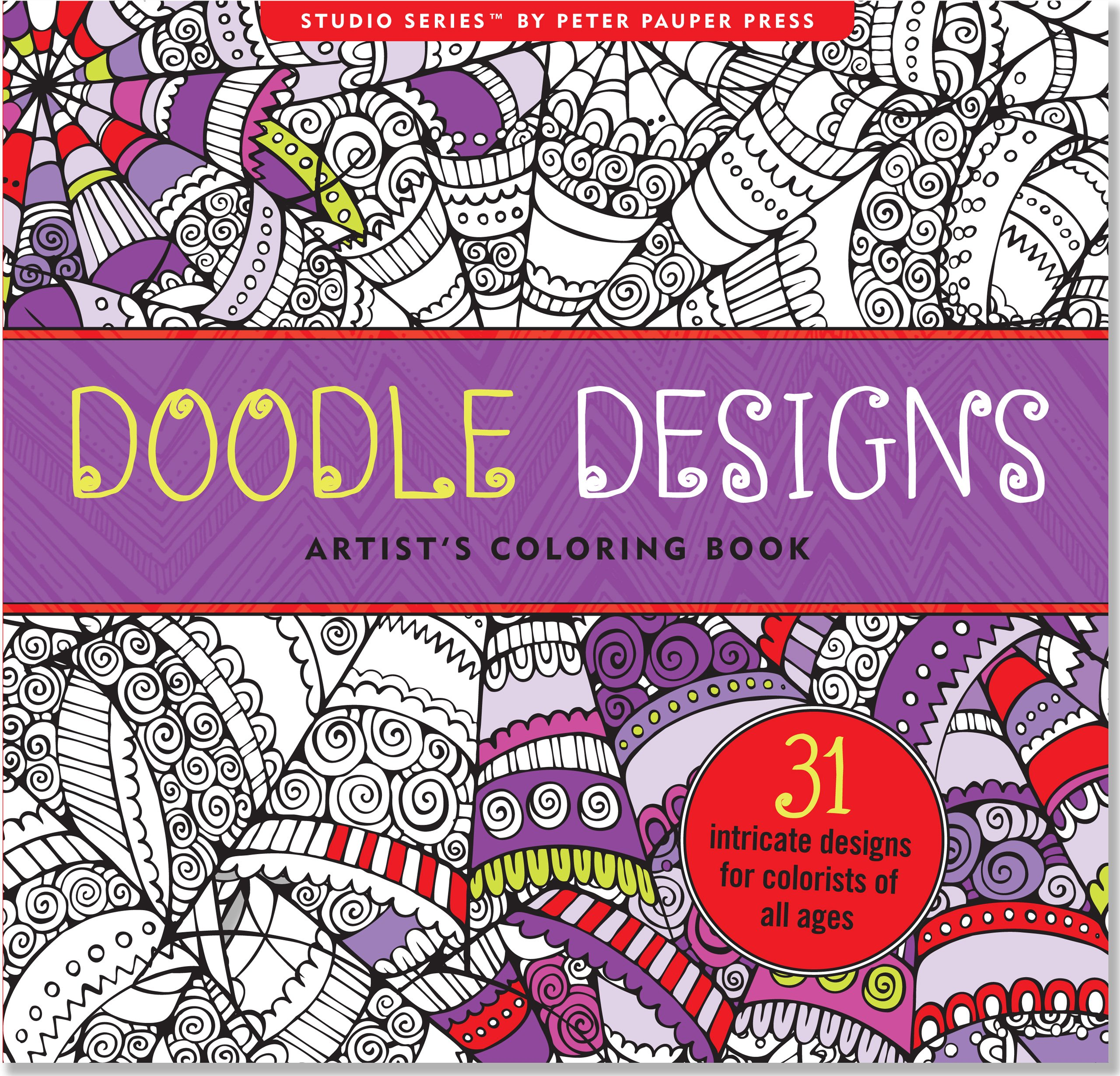 Amazon.com: Doodle Designs Adult Coloring Book (31 stress-relieving ...