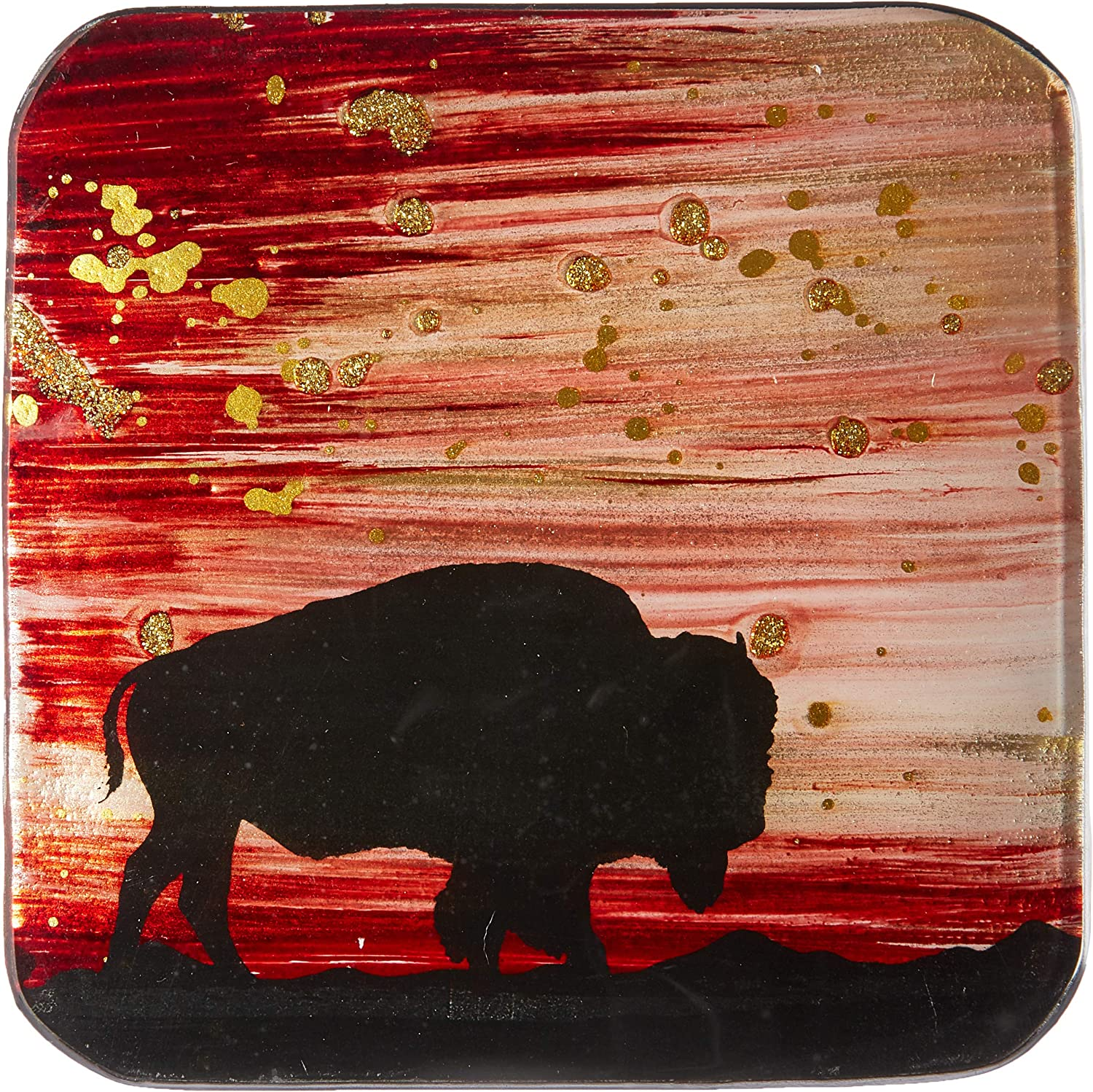 Multicolor One Size AngelStar Bear Wildlife 5-1//2 Inch Square Decorative Plate