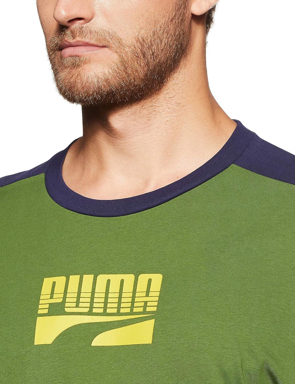PUMA Mens Rebel Block Tee T-Shirt