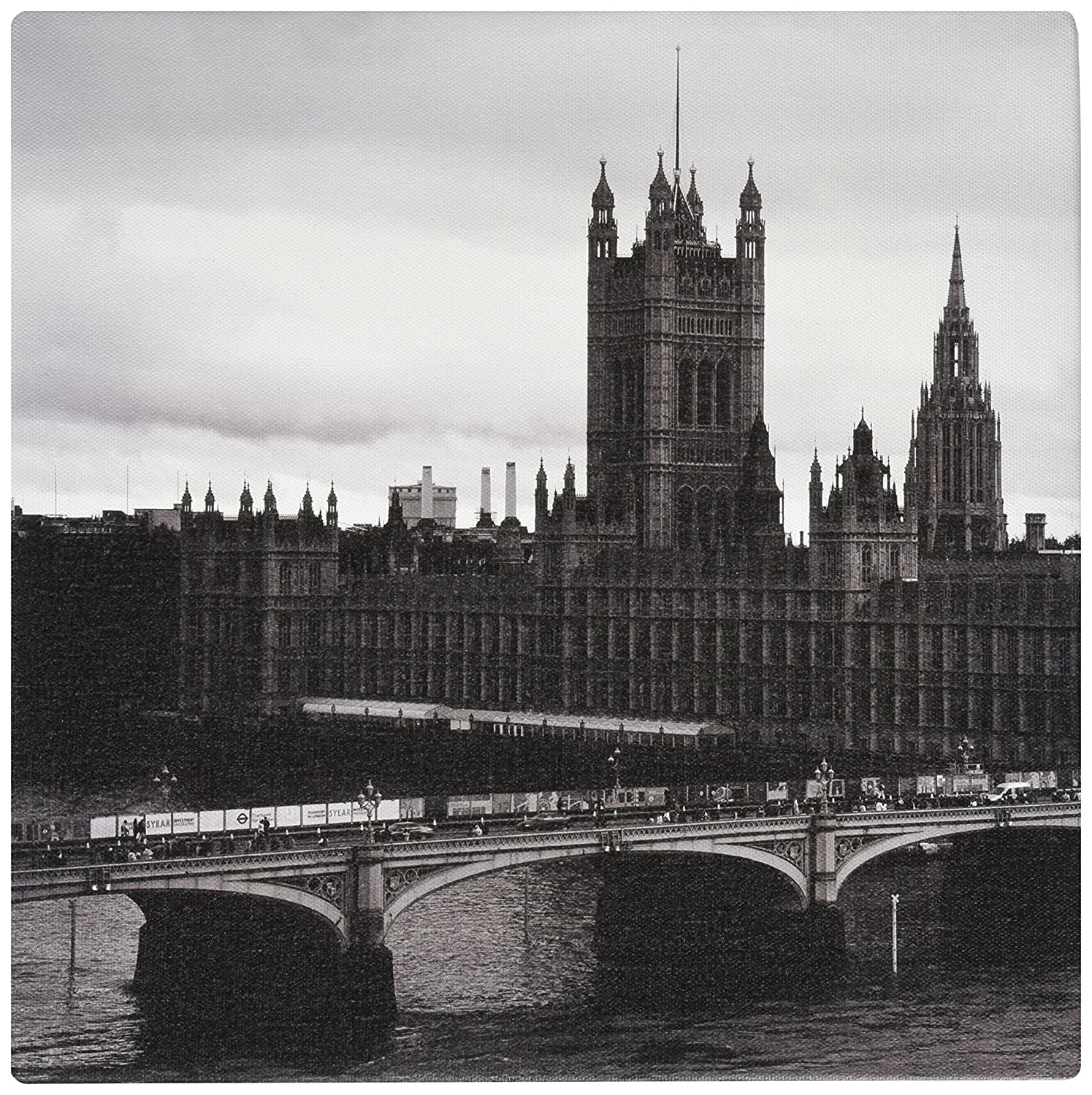 36 by 12-Inch PIM6162-1PC3-36x12 iCanvasART Westminster Bridge Across a River London England by Panoramic Images Canvas Art Print