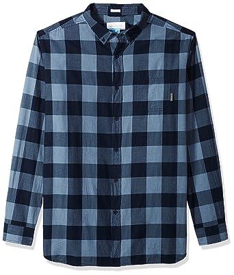 6d584e19f46 Columbia Men's Cooper Lake Big & Tall Long Sleeve Shirt, Dark Mirage Check  ...