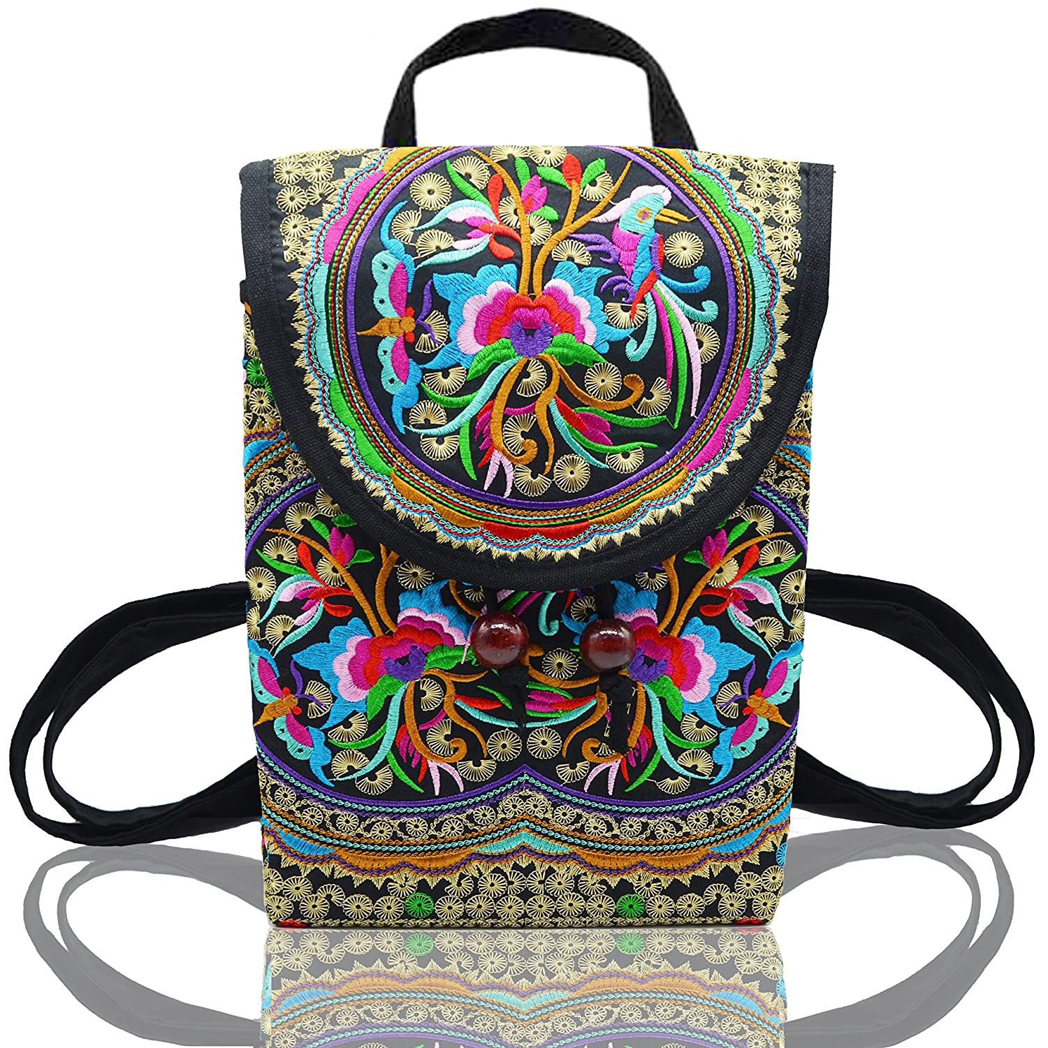 837a01712665 lovely MAYMII Women Handmade Flower Embroidered Bag Canvas National Trend Embroidery  Ethnic Backpack Travel Bags Schoolbags