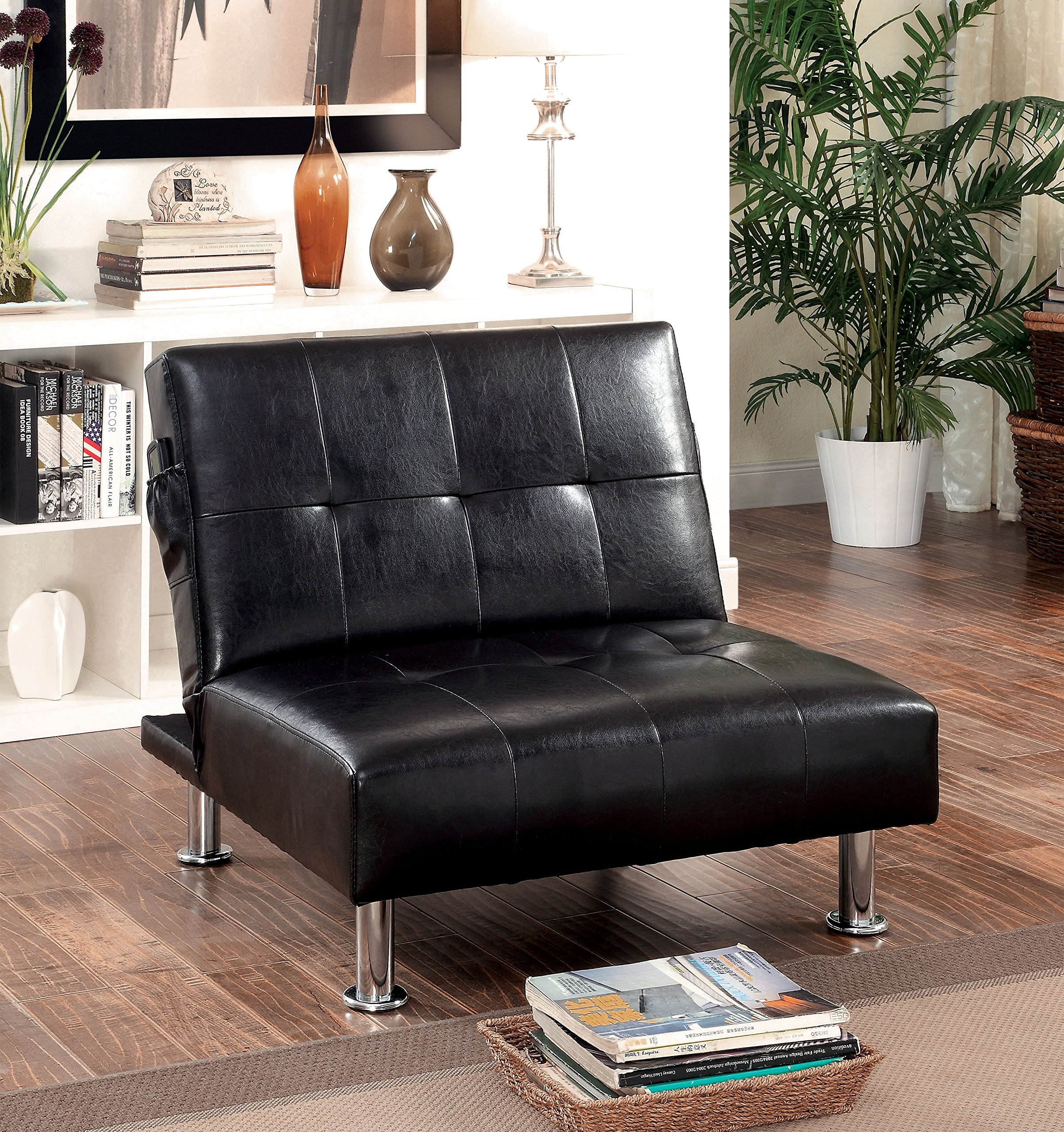 Furniture of America Pirelli Convertible Chair, Black