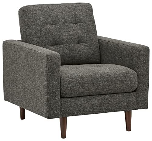 Rivet Cove Modern Tufted Accent Chair with Tapered Legs, Mid-Century, 32.7 W, Dark Grey