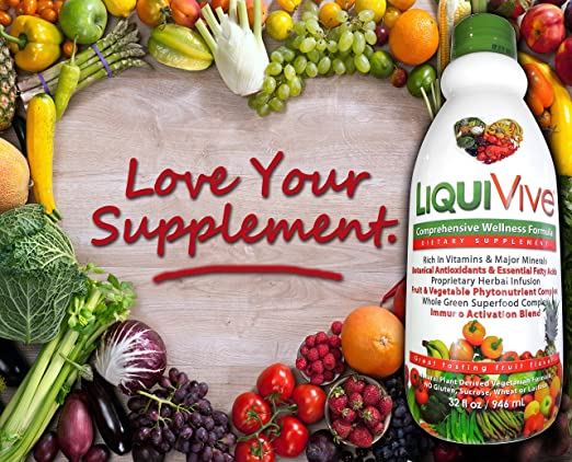 Amazon LiquiVive Liquid Vitamins Vegetarian Dietary Supplement