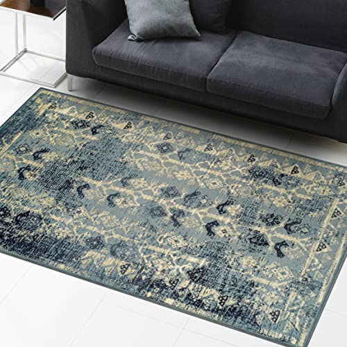 Superior Havoc Collection Area Rug, 10mm Pile Height with Jute Backing, Fashionable and Affordable Rugs, Distressed Vintage Moroccan Rug Design – 4 x 6