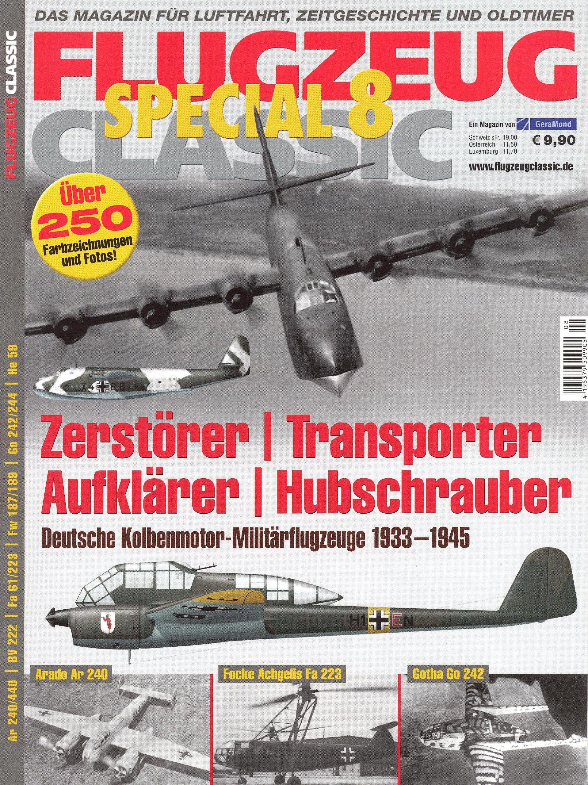FLUGZEUG CLASSIC SPECIAL 8: Zerstörer - Transporter - Aufklärer - Hubschrauber