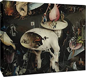 """JP London MCNV2288 The Garden of Earthly Delights Painting 2"""" Thick Heavyweight Gallery Wrap Canvas, 3' x 2'"""