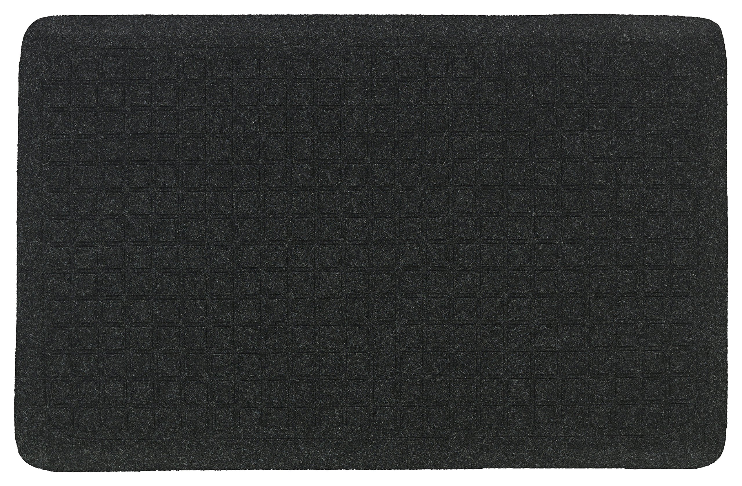 M+A Matting 4443012232 Get Fit Stand Up 4443 Anti-Fatigue Mat for Dry Areas, 22'' x 32'', 5/8'' Thickness, Coal Black