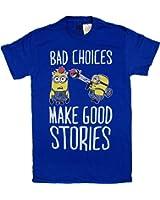 Men's Despicable Me Minions Bad Choices Make Good Stories T-Shirt