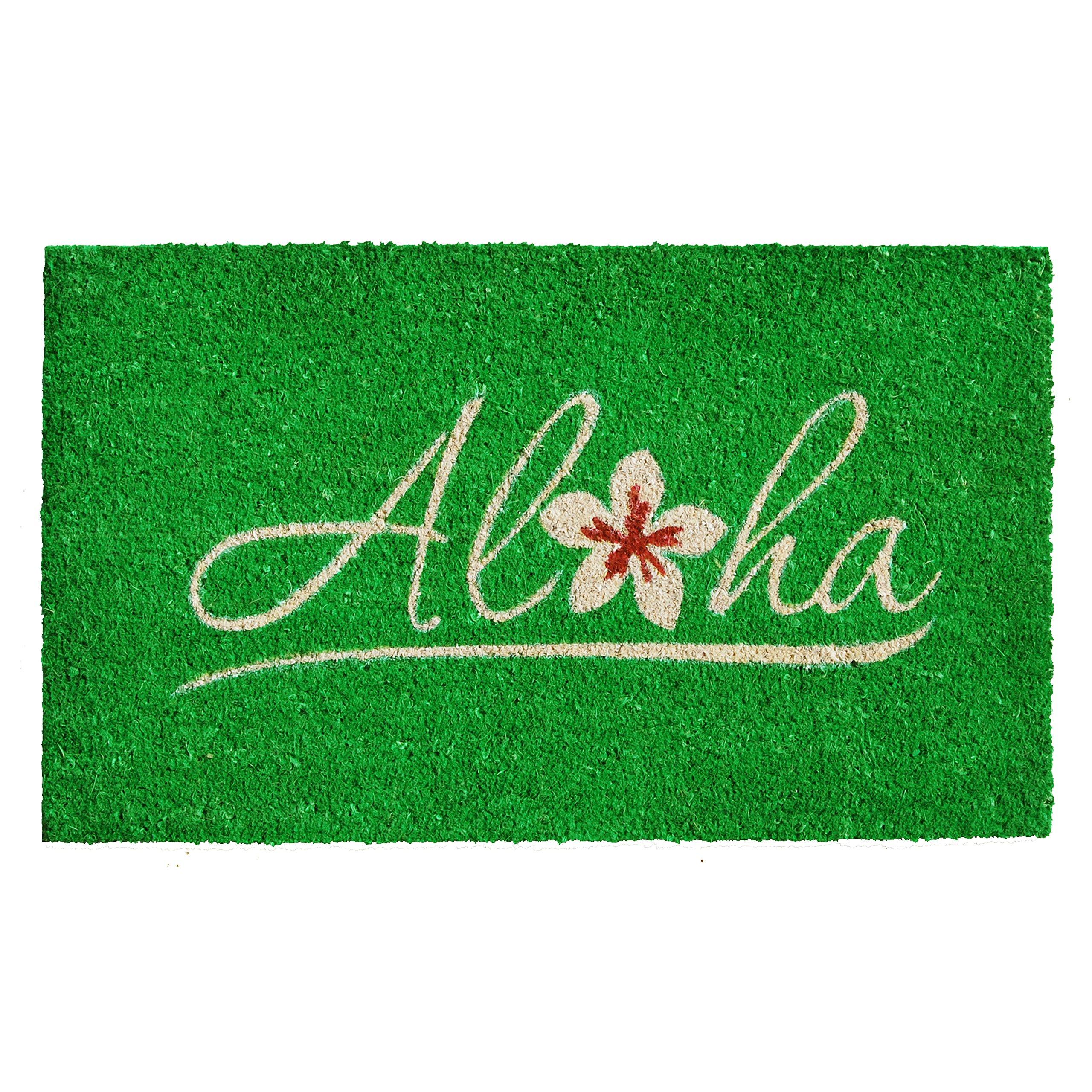 Home & More 121491729 Aloha Doormat, 17'' x 29'' x 0.60'', Multicolor