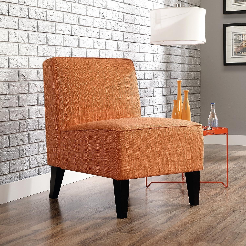 amazoncom sauder  nilsen armless accent poly chair orange  - amazoncom sauder  nilsen armless accent poly chair orange kitchen dining
