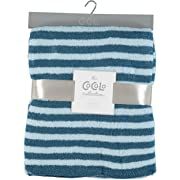 The Cocalo Collection Striped Soft Feathered Blanket (Navy)